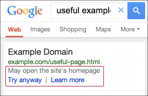 Google To Warn Searchers When A Mobile URL Redirects To The Homepage