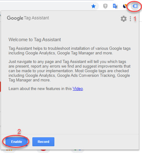 Kiểm tra Google Tag Manager bằng Tag Assistant.